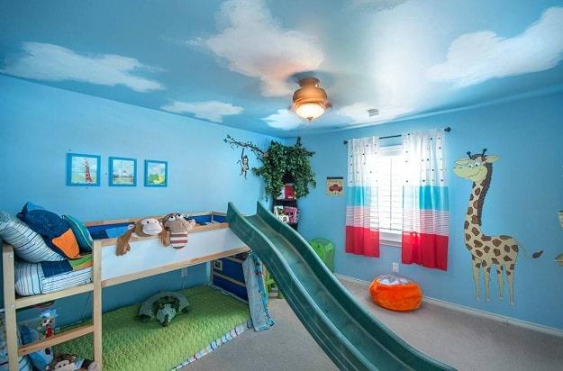 Потолок с фотопечатью в детской
